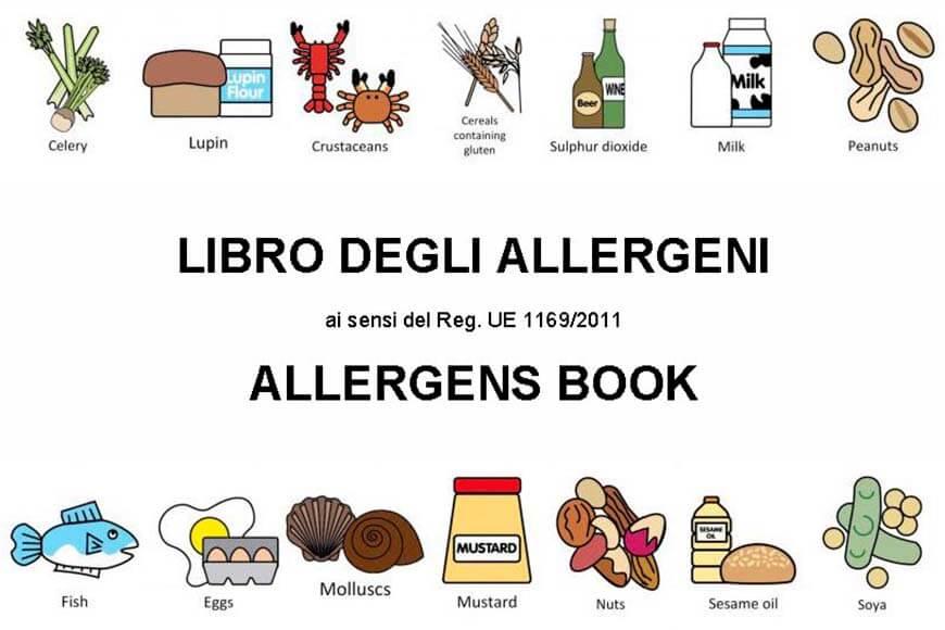 Novità! Libro Allergeni compilabile ITA/EN